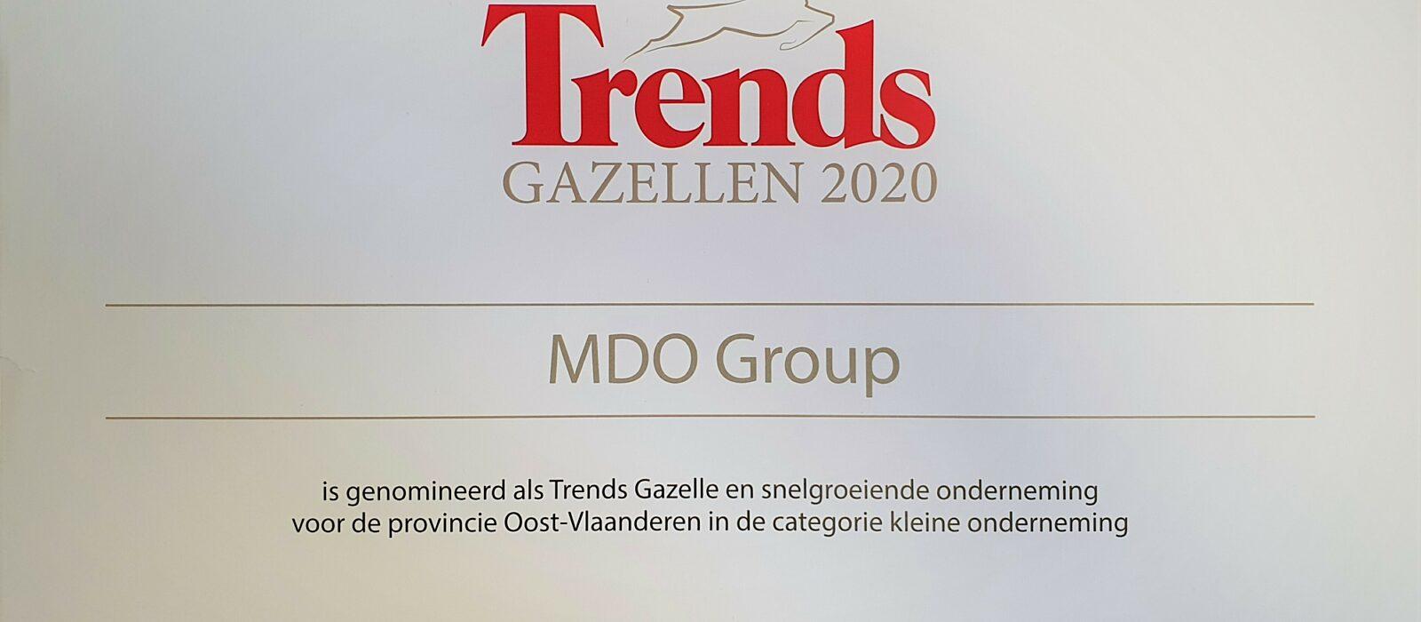 Trends Gazelle Nominatie 2020 MDO GROUP