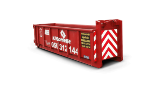 Afvalcontainer 6m³ gemengd bouwafval